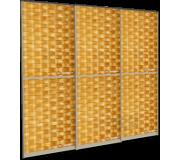 Двери Ротанг, двери купе, ротанговое полотно