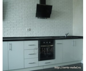 Кухня прямая в стиле хайтек