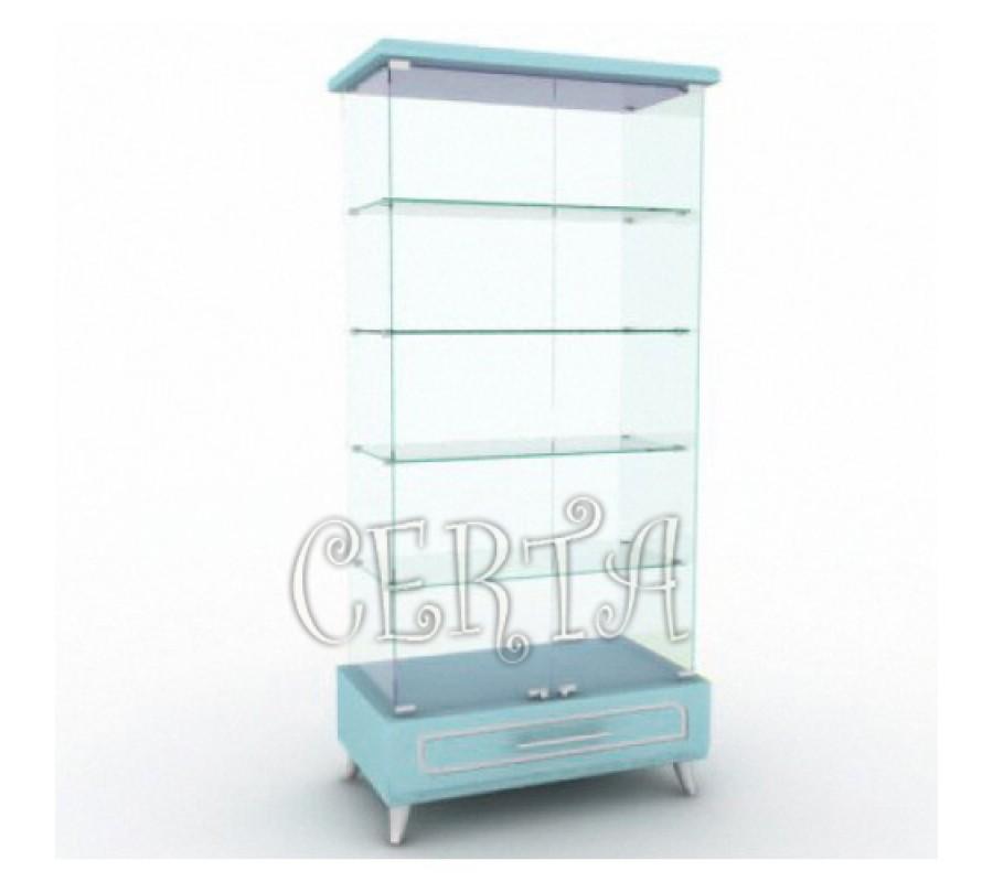 витрина торговая из стекла