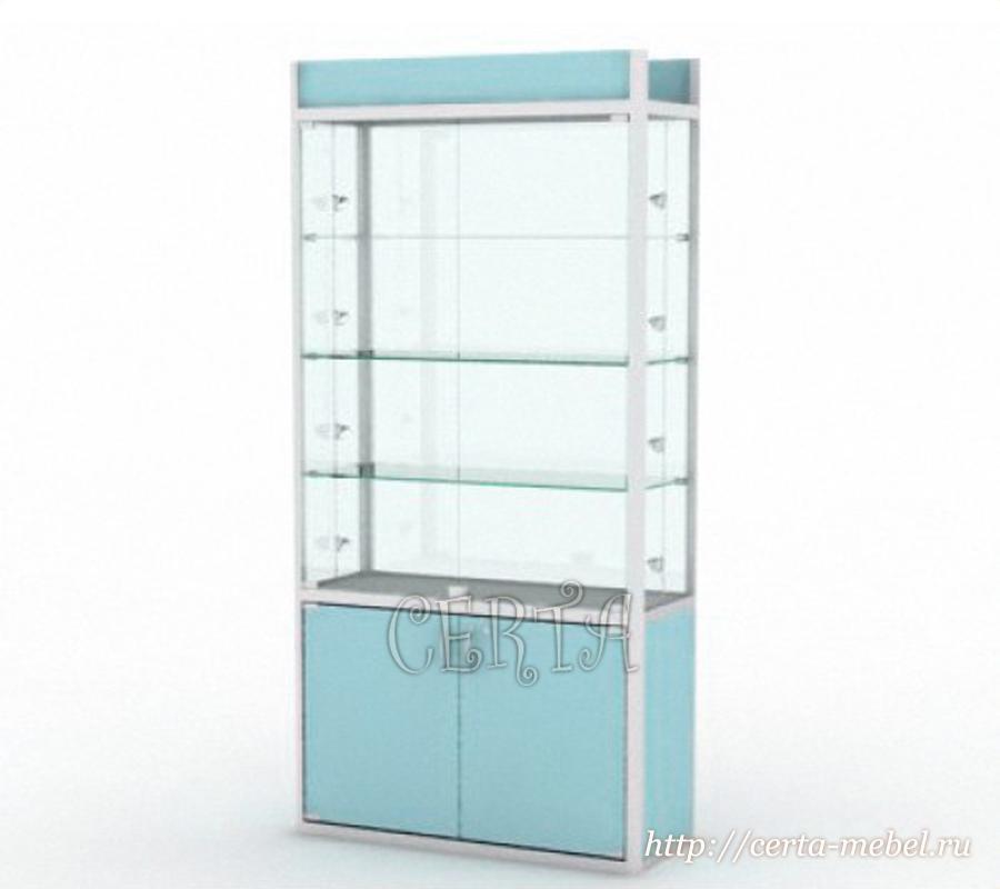 витрина профильная со стеклом