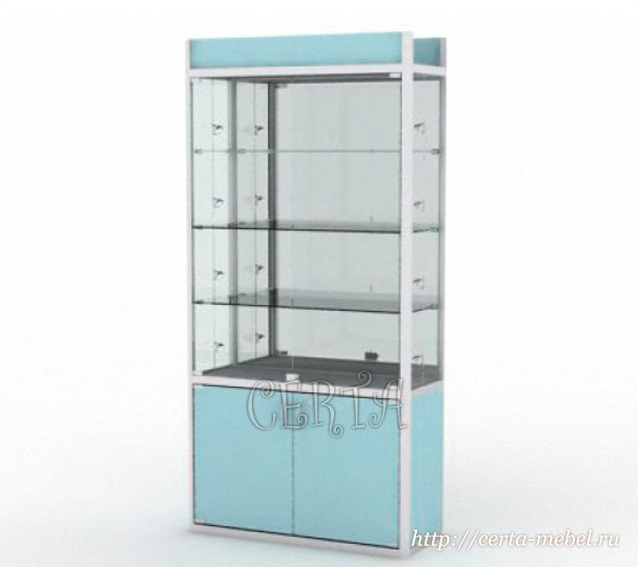 витрина профильная с зеркалом на заказ