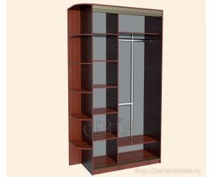 Двухдверный шкаф-купе с радиальной консолью