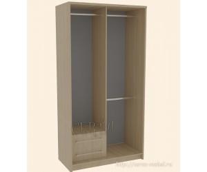 Шкаф-купе с нижними ящиками