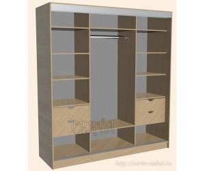 Шкаф-купе со скрытыми нишами
