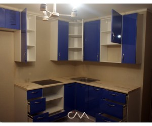 Кухня угловая Лиловый джемени 4,75 м.п