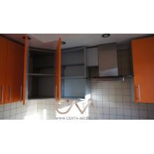 кухня оранжевая на заказ