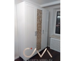 Комплект мебели с декором (шкаф+комод+тумба)